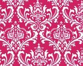 Fuchsia Hot Pink Valance Drapery Window Treatments Pink Curtain Valance Floral Damask Home Decor