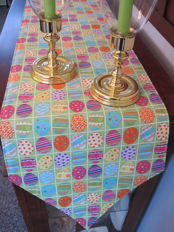 easter table runner 54 reversible easter egg table. Black Bedroom Furniture Sets. Home Design Ideas