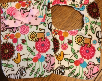 Two Piece Baby Bib and Diaper Wipie Case
