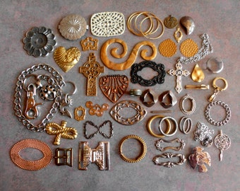 Found Metal Objects- Vintage components- Big Pieces for your Creations