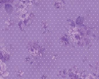 Zoey Royal Purple Morning Dew by Eleanor Burns for Benartex Cotton Fabric 711-36