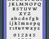 Cross Stitch Alphabet Pattern Traditional Style Font