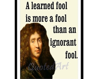 MOLIERE Quoted Art print