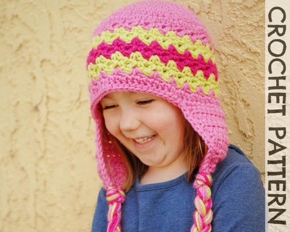 CROCHET HAT PATTERN - Kids Zaggy Beanie