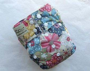 All In One Vintage Flowers Cloth Diaper from Sadie's Babies