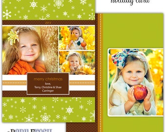 Instant Download - Photoshop PSD layered Templates for Photographers - Holiday card - Carringer Design (from the Jingle set)
