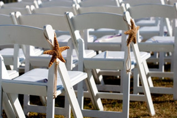 Beach Wedding Starfish Chair Decoration By SeashellCollection