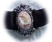 Pink Butterfly Cameo Choker - Lolita - Victorian Style