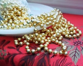 Gold Bead Chain Garland, 66',  Extra Long Festive Holiday Decor, Tree Trimming Home Decor, Vintage Christmas