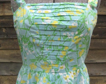 Vintage Floral Sun Dress from Tanner of North Carolina sz 8