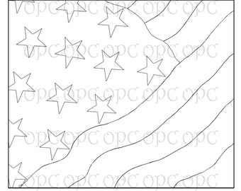 Digital Stamp American Flag