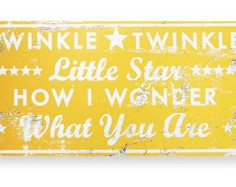 Twinkle Twinkle Little Star 14x28