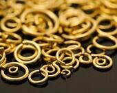 50 Custom Handmade 14kt Gold Filled Jump Rings - You Pick Gauge and Diameter