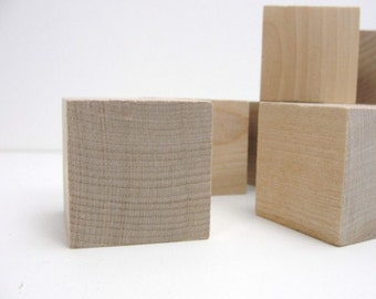 "1.5""  unfinished wooden block,  1 1/2 inch wooden cube, unfinished wood block, wood cube set of 26,  DIY Alphabet blocks"