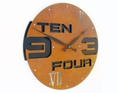 Outnumbered II, Large Wall Clock, Rustic, Roman Numerals, Farmhouse, Giant, Huge, Mechanism, Kitchen, Big, Hanging, With Numbers, Round Art