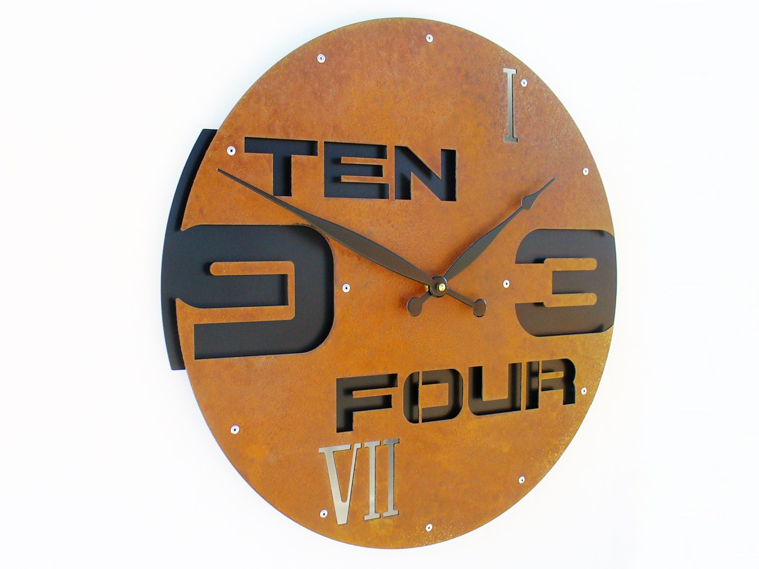 Outnumbered II Large Wall Clock Rustic Wall Clock Unique