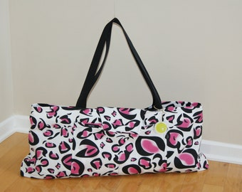 Large Yoga Bag with quilted Lining-Made to Order.