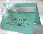 Personalized, Will you be my Bridesmaid, Robins Egg Blue