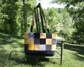 Tote, Quilted yellow & black