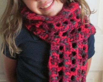 Ready to Ship Children or Adult warm thick scarf Hand Crochet by me