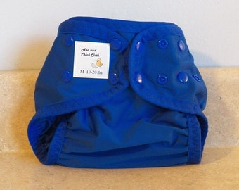 Medium PUL Diaper Cover with Leg Gussets- 10 to 20 pounds- Saturn Blue- 22006