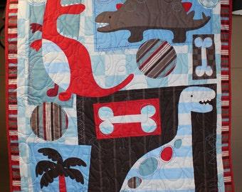 Dinosaur Quilt Kid's Toddler/Lap/Crib/Wall
