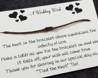 Wedding Wish Bracelet Favor - Set of 25 - Wedding Favors - Wedding Thank You - Unique wedding Favors - Handmade Wedding
