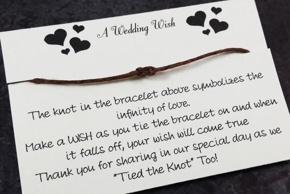 Wedding Wish Bracelet Favor Set Of 25 Wedding Favors