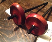 RESERVED: Bloodwood and Ebony Drop Spindle