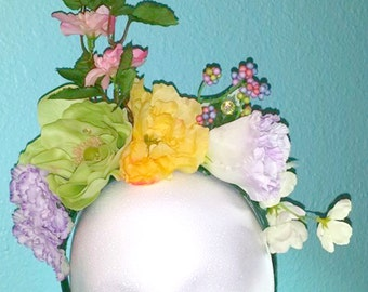 Whimsy floral headpiece - festival, fairy, costume,cosplay