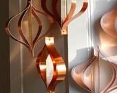 Party Decorations, Wedding Decorations, Mid century Modern ornaments, Metallic Copper, Gold Decor