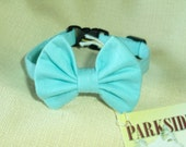 Robin Egg Blue Kitten Bow Tie Collar