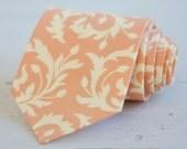 Necktie, Mens Necktie, Wedding Ties, Groomsmen Gift, Groomsmen, Ties, Neck Tie, Gifts For Men - Peach And Cream Swirl