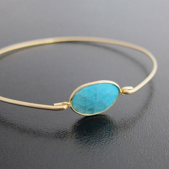 Gold Turquoise Bracelet, Genuine Turquoise Jewelry, Turquoise Gold Bracelet, Turquoise Gold Jewelry, Gemstone Bangle, Turquoise Bangle