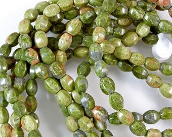Unakite Barrel Beads 60% off, qty 41