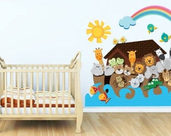 Noah's Ark full color removable wall sticker