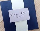 Modern Pocket fold Wedding Invitation