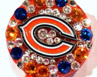 Chicago Bears Swarovski Crystal Embellished ID Badge Reel