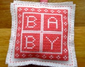 Handmade Cross Stitch Baby Hanging Ornament Unscented Home Decor