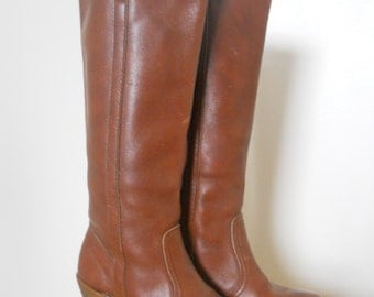 1970s Leather Boots Size 5.5 Dex