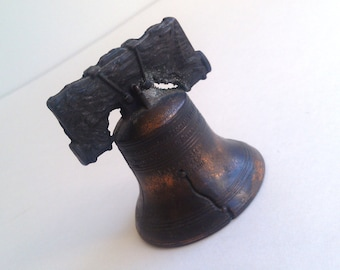 Vintage Brass Liberty Bell Collectible