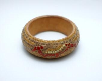 mosaic bangle - red dragon