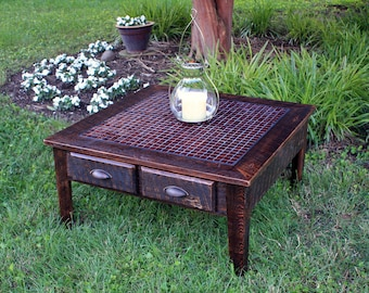 Storage Cube Coffee Table Reclaimed Wood By Natureinspiredcrafts