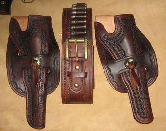 Custom Made to Order two holster and gun belt set - 10/12 week delivery
