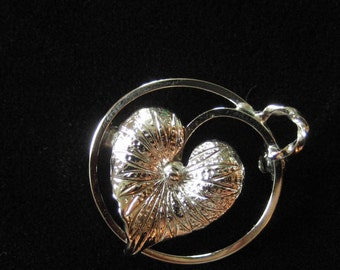 Tiny Sterling Silver Leaf Pin, Wells Sterling