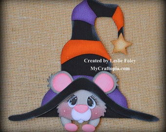 Mouse with a hat Premade Halloween Scrapbooking Embellishment Paper Piecing set