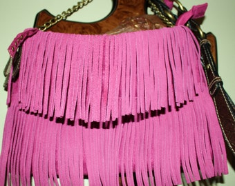 Hand Crafted By Maggie Pink Leather  Messenger-Crossbody  bag -Great Spring Sale.