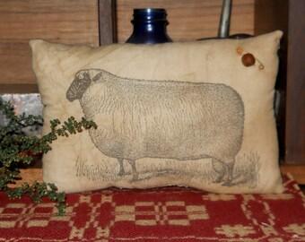 Primitive Sheep Pillow tuck