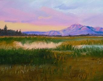 Big Sky Country - Print of Original Painting by Jamies Art 8x10