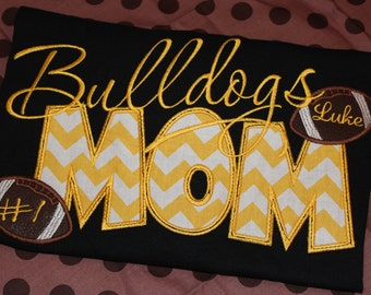Football MOM adult shirt- any school.  You choose fabric